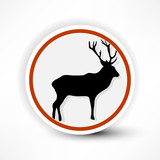 prohibited from shooting elk, red mark on a white background.