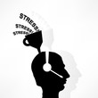 business concept, the headphones people get stressed over wateri