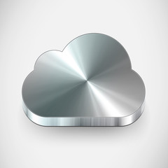 Vector metal cloud icon