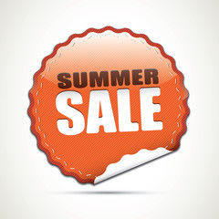 Summer sale glossy sticker