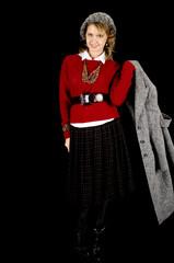 Lovely Girl in Winter Fashion