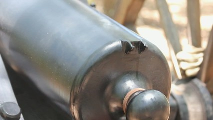 Muzzle Loaded Cannon Fuse Hole After Firing