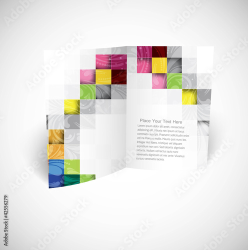 abstract fold brochure mosaic vector