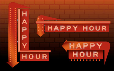 Happy Hour Bar Signs