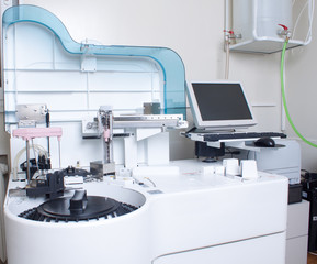 Lab analyzing equipment