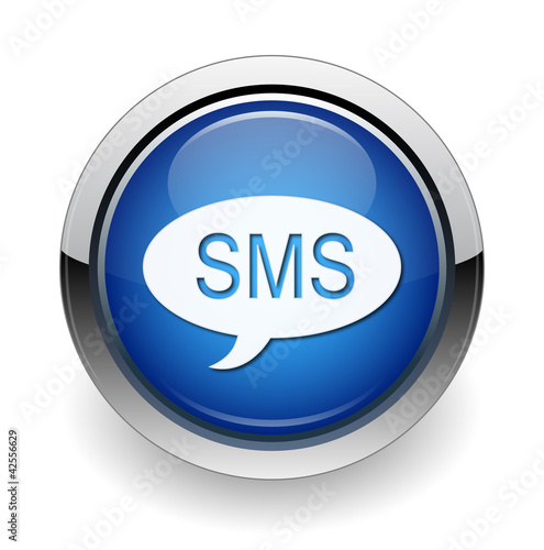sms web blue button