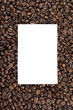 piece of paper on heap of coffee beans