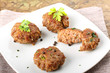 Meatballs with garlic, parsley and onion