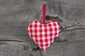Kariertes Herzchen für Liebende