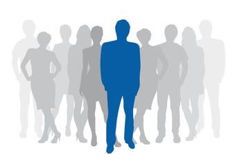 Leader of Teamwork Background # Vector