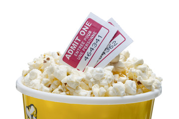pop corn goodies and movie tickets