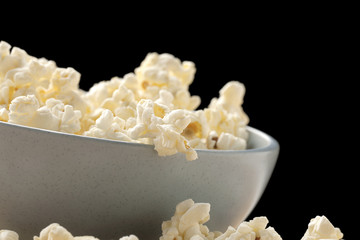 popcorn on white bowl