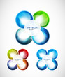 Liquid abstract icon set