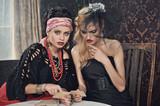Gypsy fortune-teller cards spells poster