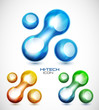 Liquid abstract icon set