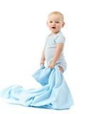 Fototapety Kind mit blauer Decke