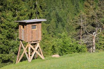 Jägerstand in den Alpen