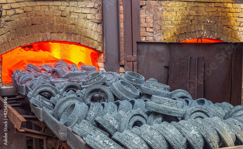 Furnace at the plant