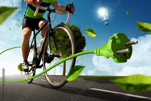 Leinwanddruck Bild E-Bike