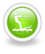 "Light Green Icon ""Water Skiing"""