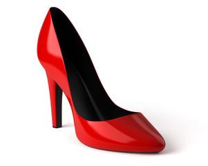 Chaussure à talon sur fond blanc 1
