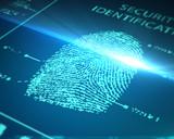 Fototapety scanning fingerprint