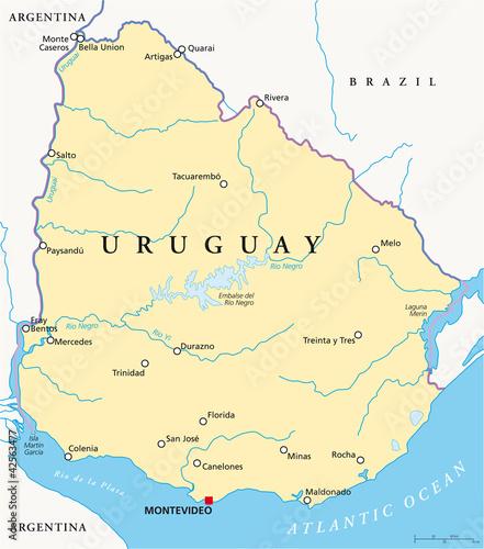 Uruguay Map (Uruguay Landkarte)