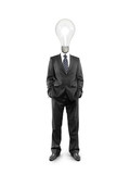 businessman with lamp-head