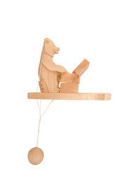 Wooden toy bear