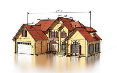 scetch brick house