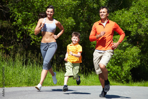 Jogging outdoors