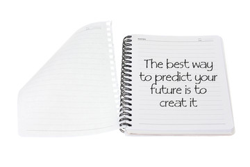 Note Book with Inspiration Message