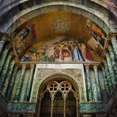 Basilica di San Marco - Venice, old texture