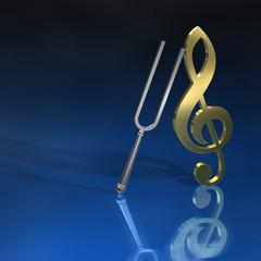 Stimmgabel Violinschlüssel BL