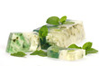 Handmade mint Soap closeup.Spa products
