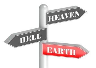 Heaven, hell, earth