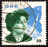 Postage stamp GDR 1963 Valentina Tereshkova and Space Craft