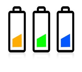 Piles colorées