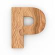 3d Font Wood Character P