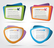Colorful template elements for advertising brochure