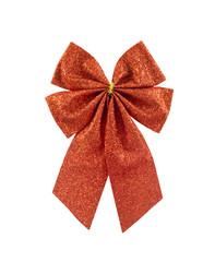 Red satin gift bow ribbon