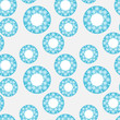 Seamless pattern with blue circles