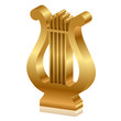 Vector 3d illustration of golden lyre