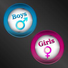 boys girls button set