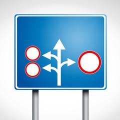 Direzioni su segnaletica stradale