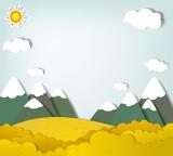 Fototapety Vector applique. Mountain landscape