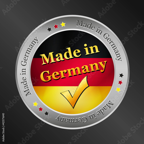 made in germany vector button