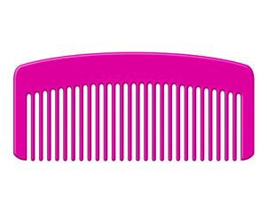 Vector illustration of pink comb