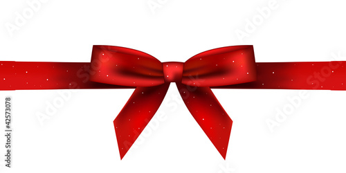 Vector illustration of red shiny bow