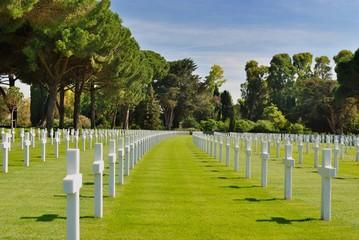 Cimitero - Sacrario Americano di Nettuno - Roma - Lazio - Italia